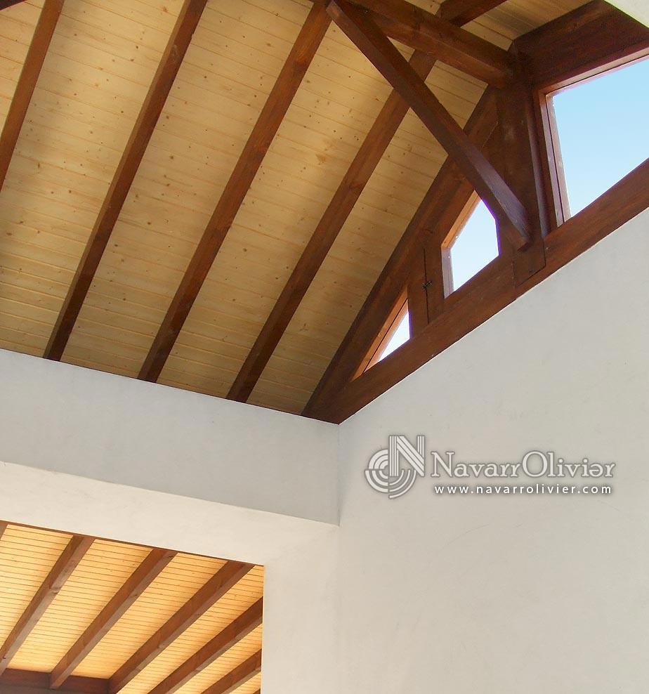 Techos de madera para terraza de duplex estructura de - Terrazas en madera ...