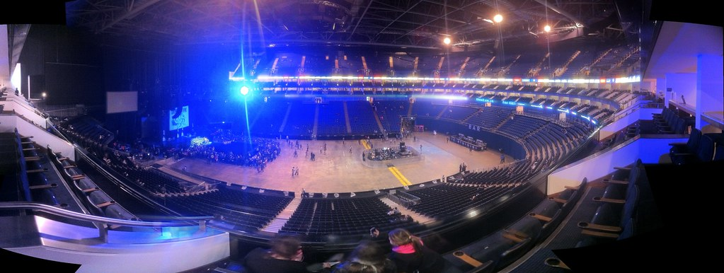 O2 Arena from Level 3 ... Lady Gaga