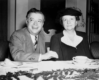 David Dubinsky and Frances Perkins at a banquet table | by Kheel Center, Cornell University