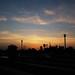 Sunset from Marrakesh train station.