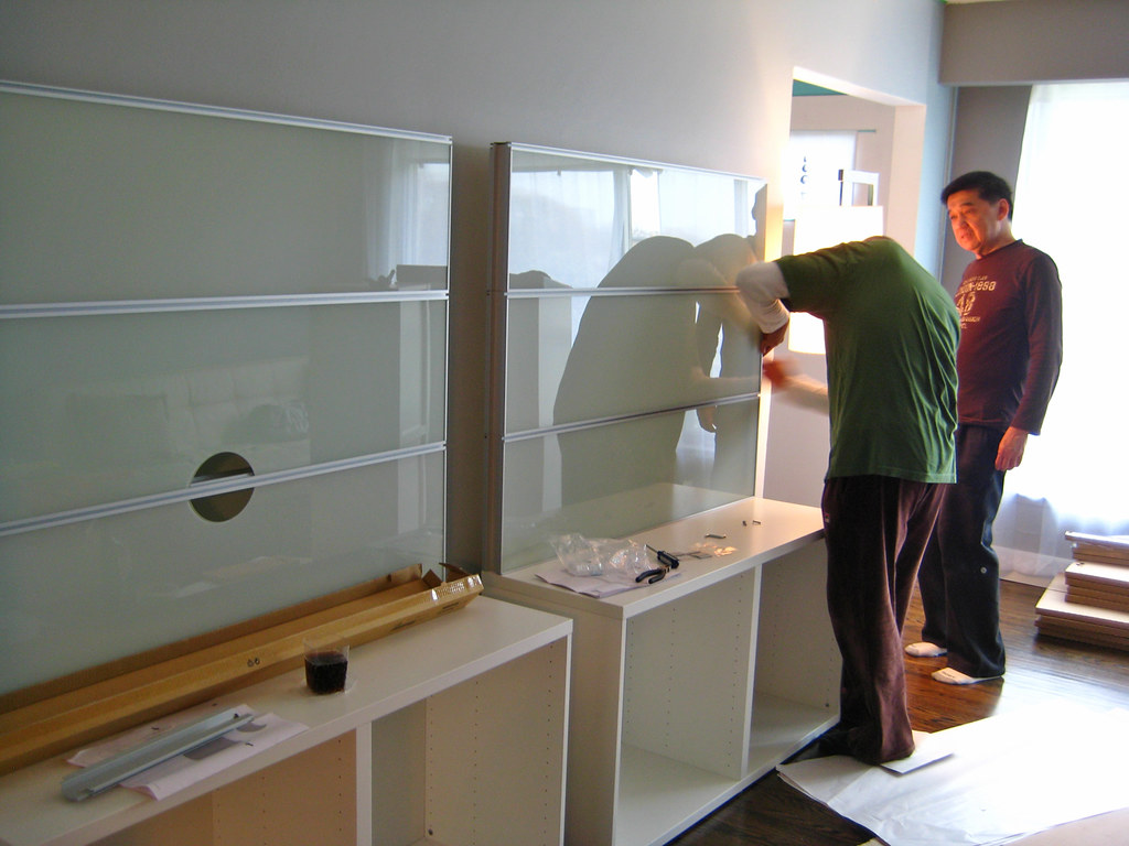 assembling new entertainment unit fred my brother in. Black Bedroom Furniture Sets. Home Design Ideas