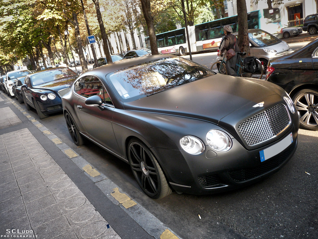 Amazing Combo Bentley Continental Gt Speed Matt Black Ma