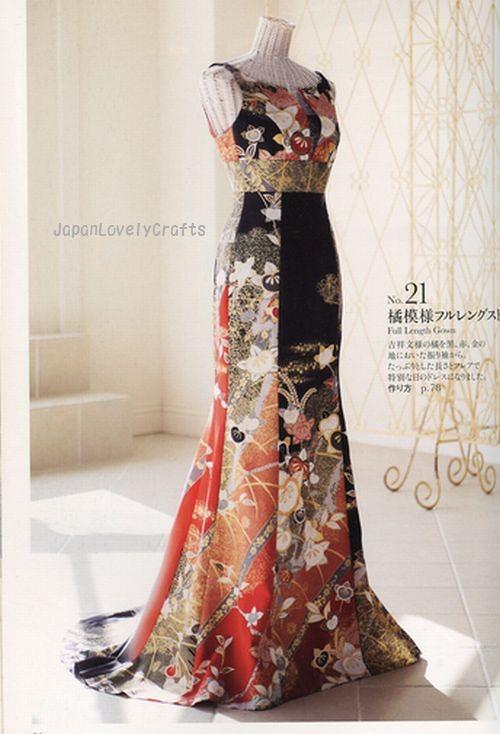 remake kimono dress by ryoko takashiro japanese handmade s