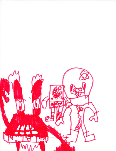Mr. Crabs, Spongebob and Sandy | by Aidan's Monsters