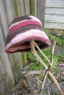 rose and brown felted cloche | by freestylefashion