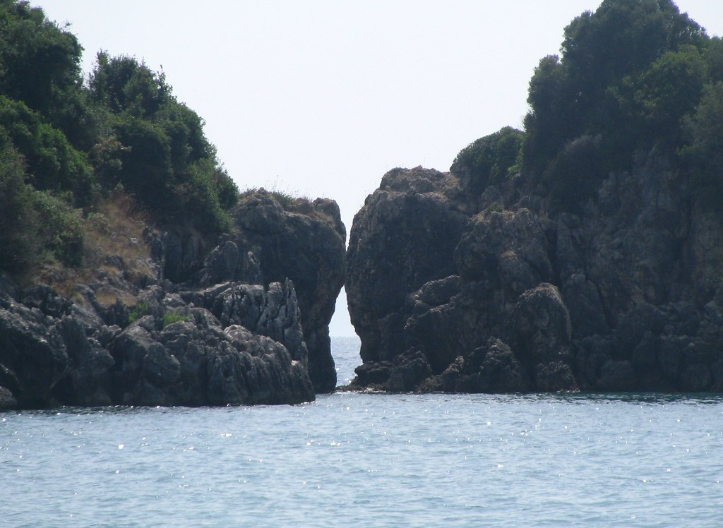 Symplegades A Large Rock Formation At The Beach Of