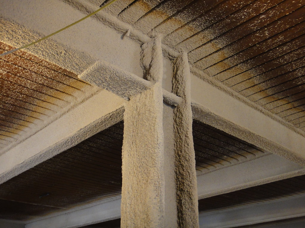 Sprayed On Fireproofing Column Amp Beams Example Of Newly