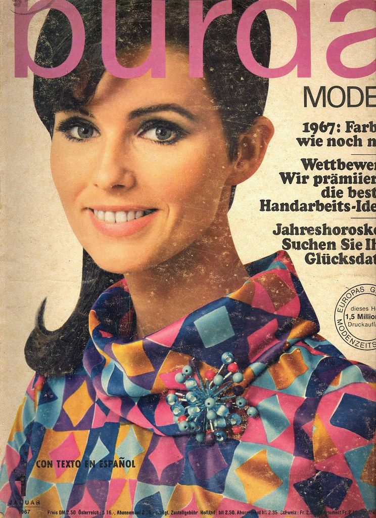 Burda January 1967 German Fashion Magazine Burda Moden Jan Fashion Covers Magazines Second