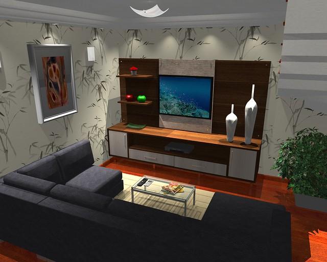 Sala De Estar Home Theater ~ Sala de estar com home theater  Flickr  Photo Sharing!