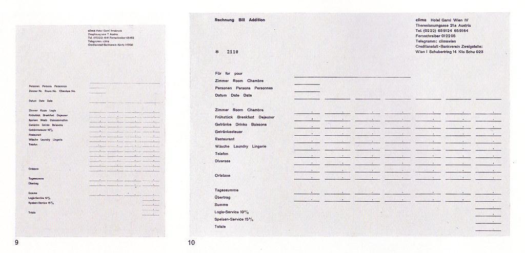 Herbert Lindinger. Clima Hotel | Captions 9. Invoice form ...