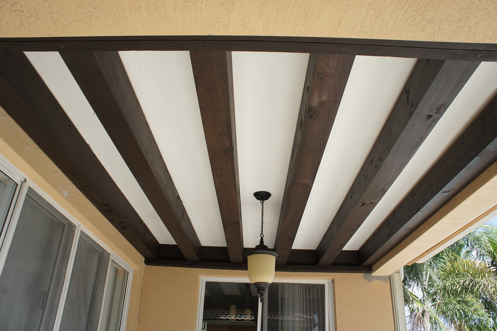 Patio Ceiling Beams : Wood beams for outdoor patio ceiling decoration