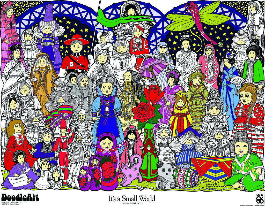 Doodle Art It S A Small World Coloring Page Poster Flickr