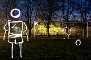 Field Of Dreams (Penalty Kick Light Painting), Rickmansworth | by flatworldsedge