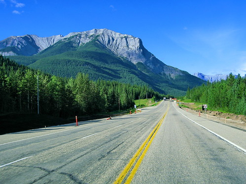The Rockies out of Hinton, Alberta  On August 3, 2006, I