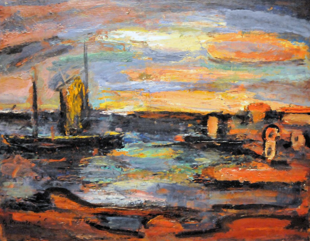 Georges Rouault Afterglow Galilee At Phillips Art Colle