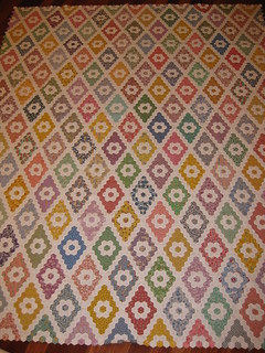 White Flowers Hexagon Quilt | by DKC22