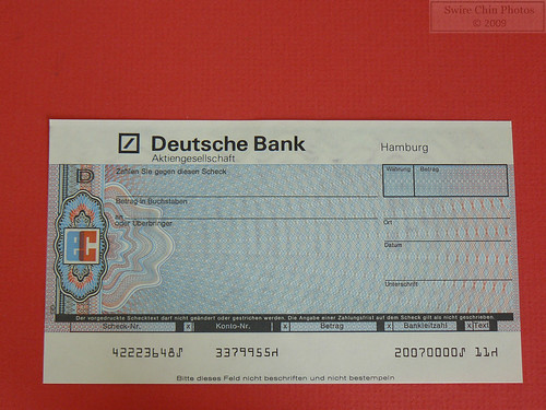 deutsche bank eurocheque flickr photo sharing. Black Bedroom Furniture Sets. Home Design Ideas