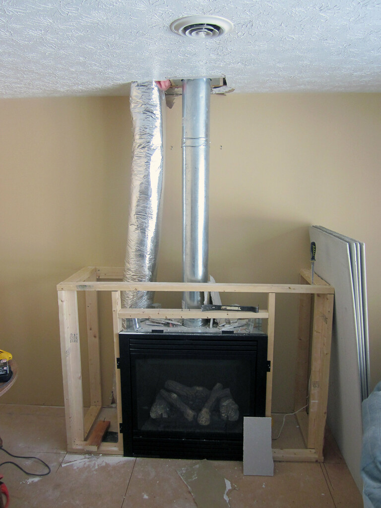 gas fireplace framing i had enough wood to get the bottom u2026 flickr