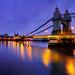 Hammersmith bridge at evening