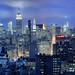Midtown Manhattan and NoHo at Twilight, New York City