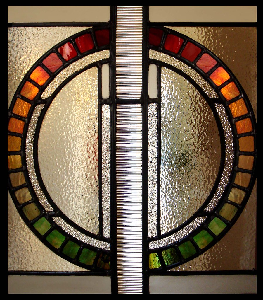 Stained glass window contemporary modern glasgow scotland for Contemporary stained glass
