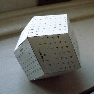 Rhombic Dodecahedron Calendar | by oschene