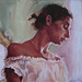 Vera at the Window- Melissa Grimes oil painting
