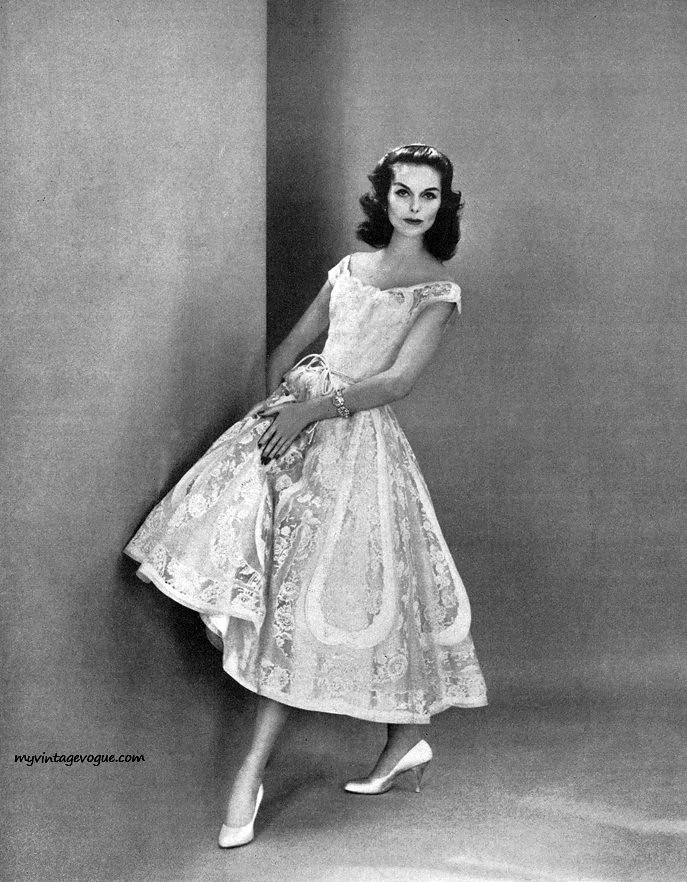 Anne St Marie 1956 Dress By Ceil Chapman Jessica Flickr