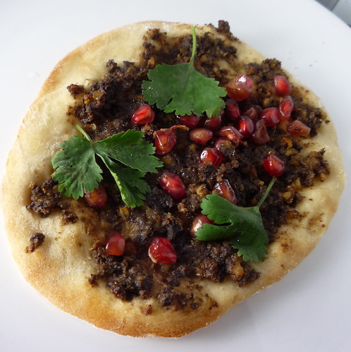 Turkish Flatbreads with Lamb Haggis & Pomegranate | by Girl Interrupted Eating