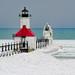"""Red White & Blue"" St. Joseph Northpier Lighthouse, St. Joseph, Michigan"