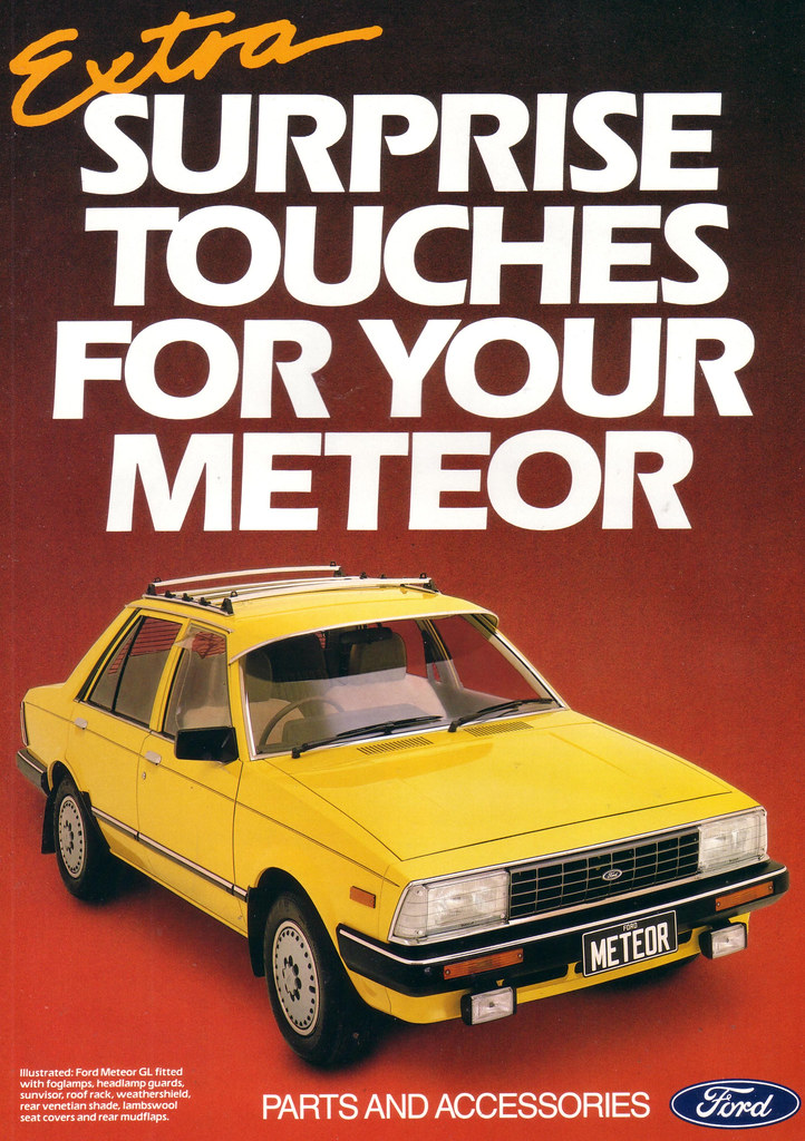 1983 Ford Meteor Accessories Brochure Australia Covers T Flickr