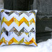 Yellow and Grey Zigzag Pillow Cover