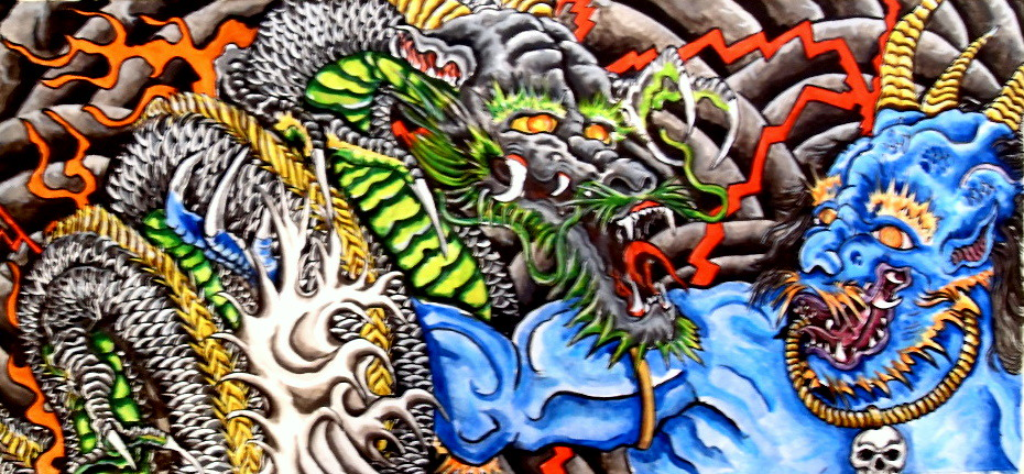 Dragon And Snake Tattoo Designs