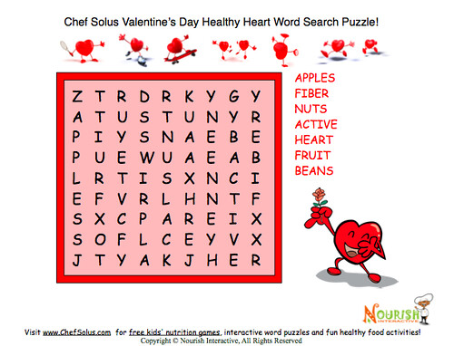 Easy Valentine Word Search Healthy Theme | Flickr - Photo Sharing!
