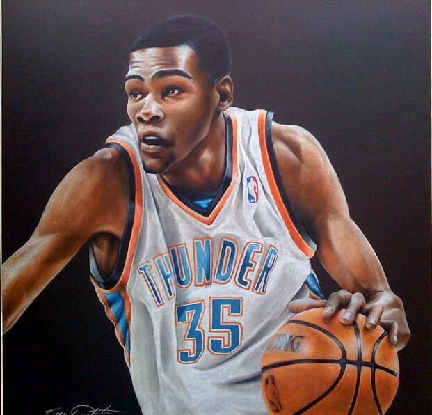 Kevin Durant Drawing Kevin Durant by