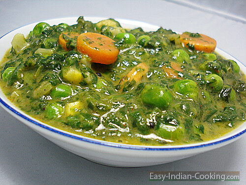 Spinach Palak Vegetable Curry