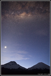 Twin-Volcanoes-Milky-Way | by www.TerraceLodge.com