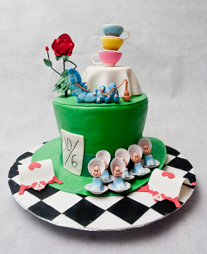 Wonderland Birthday Cake