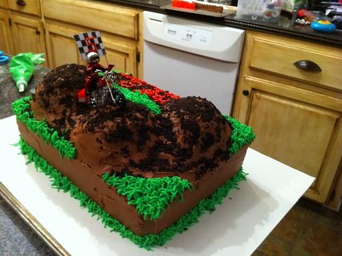 Cake Decorating Dirt Bike Track : Back of dirt bike cake Flickr - Photo Sharing!