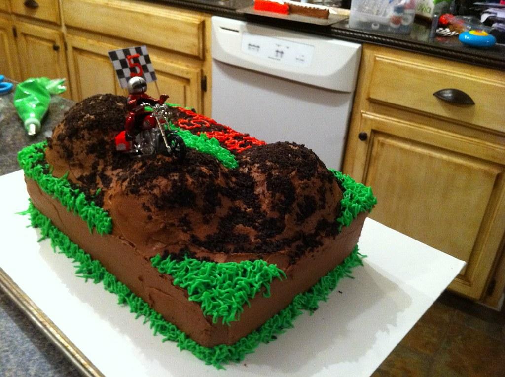 Race Bike Birthday Cake
