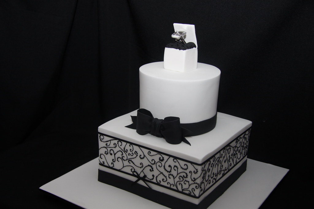 Kacie Engagement Cake Side View This 2 Tier Cake Was