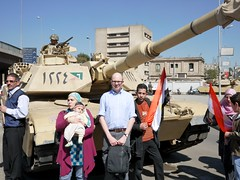 Obligatory photo op in front of a tank