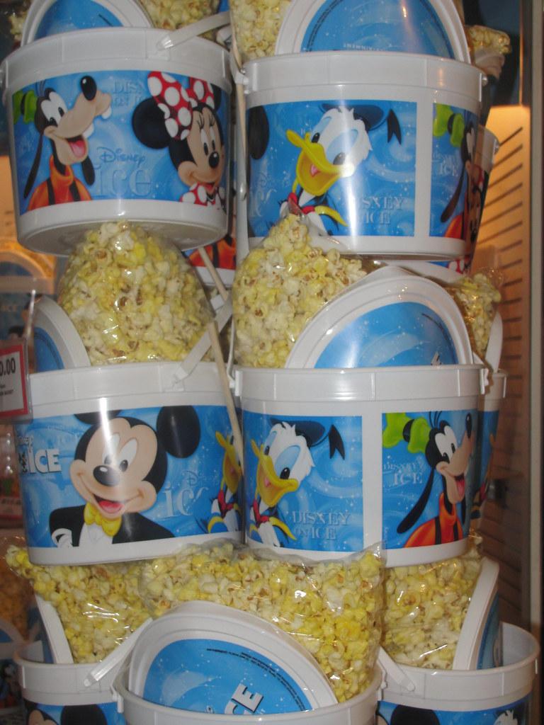 Popcorn buckets | Popcorn for sale at Disney on ice ...