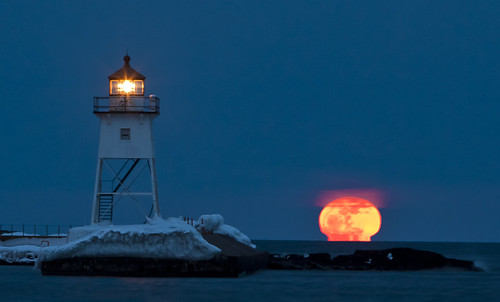 Big Moon two Grand Marais | by Stephan Hoglund