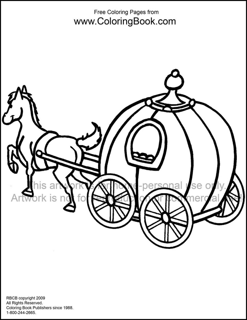horse and carriage free coloring page Wayne Bell Flickr