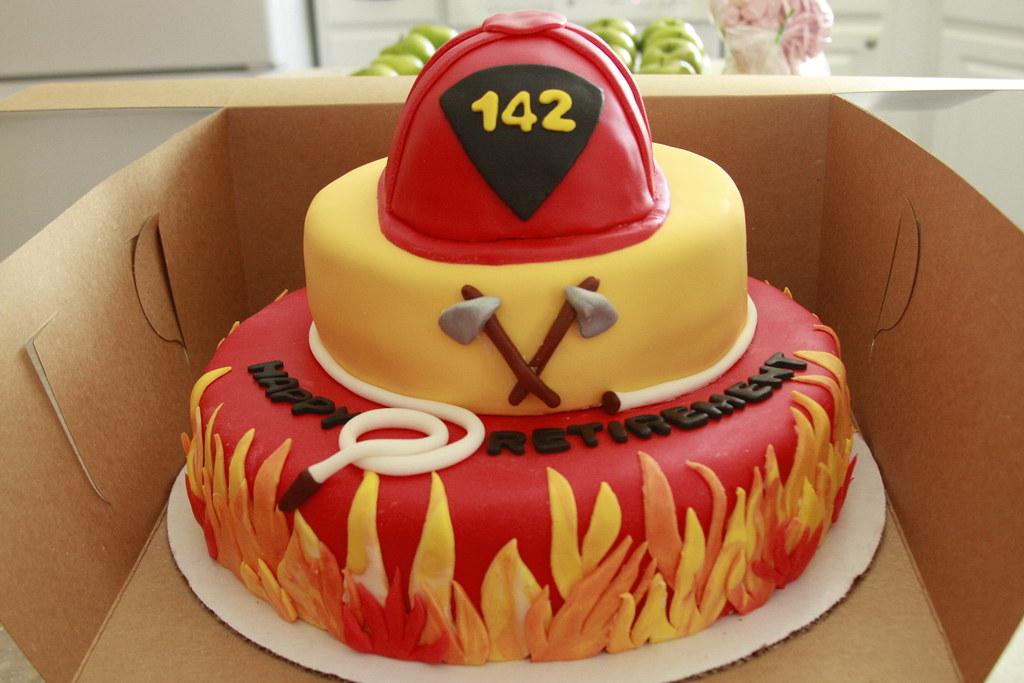 Firefighter retirement cake Nichole Eckert Flickr