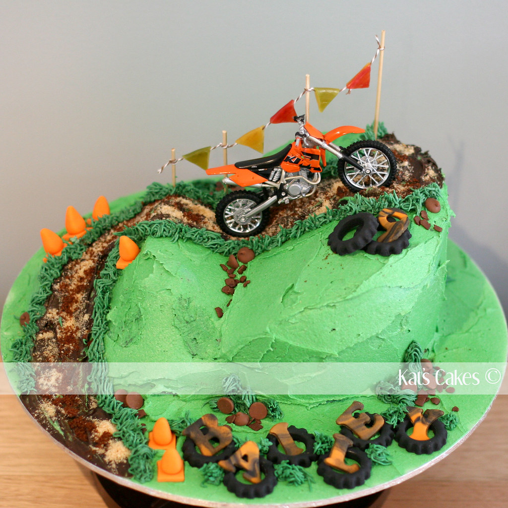 Dirt Bike Cake I Made This For My Best Friend S Sons 9th