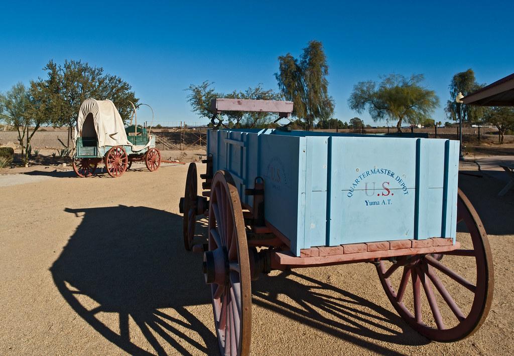 Quartermaster Depot Wagons Yuma TJfrom AZ Flickr