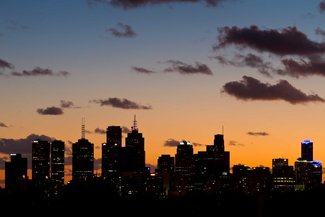 Evening sky over city | Flickr - Photo Sharing!