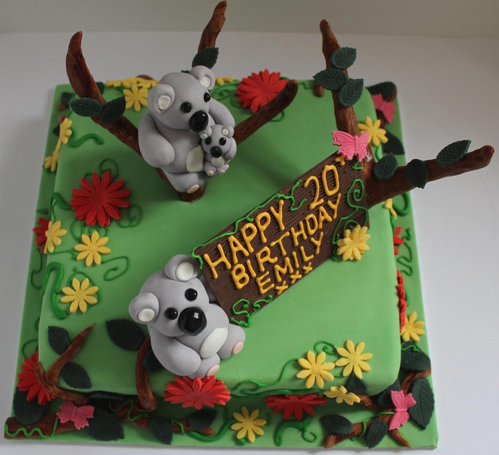 Koala Birthday Cake Pauls Creative Cakes Flickr